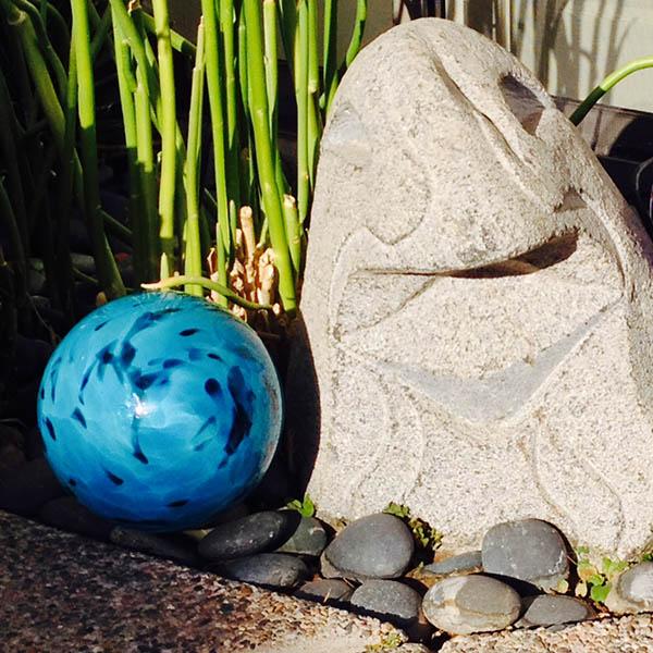 Orbs in Rock Garden