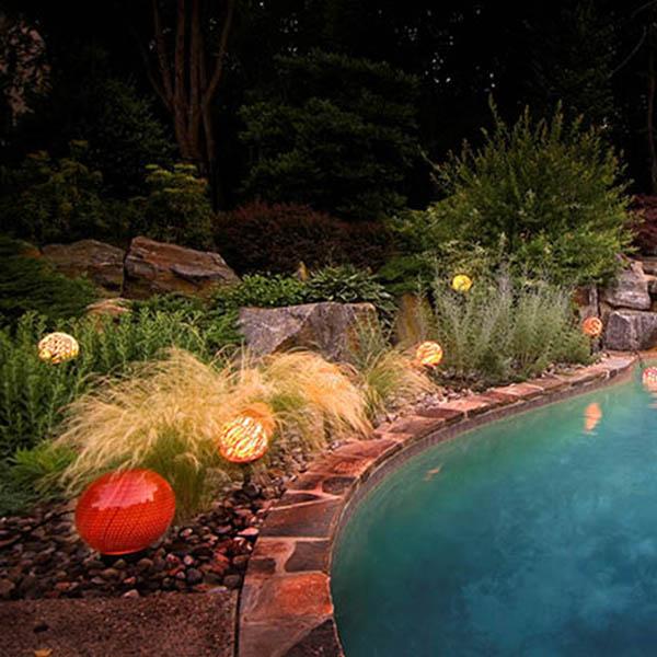 Water and garden orbs